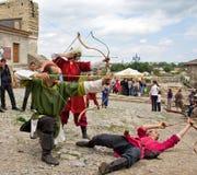 Mittelalterliche Bogenschützen Lizenzfreie Stockfotografie