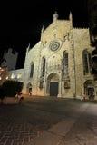 Mittelalterliche Como Kathedrale in der Nacht Lizenzfreies Stockbild