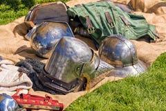 Mittelalterliche englische Rüstung Lizenzfreie Stockfotos
