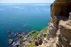 Mittelalterliche Festung auf Kap Kaliakra lizenzfreie stockbilder
