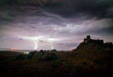 Mittelalterliche Festung Enisala verwies auch als Heracleea-Festung Lizenzfreies Stockbild