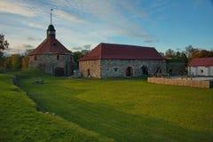 Mittelalterliche Festung Korela war die nordwestlichste Stadt von Russland Die Festung wurde an der Wende der Jahrhunderte XIII g lizenzfreie stockfotografie