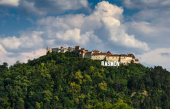 Mittelalterliche Festung Rasnov, Siebenbürgen, Rumänien stockfotos