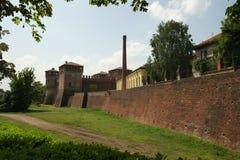 Mittelalterliche Festung in Soncino, Italien stockfoto