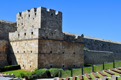 Mittelalterliche Festung von Rhodos. Lizenzfreie Stockfotos