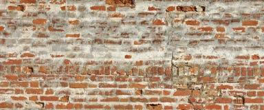 Mittelalterliche Festungs-Ziegelstein-weiße rote Wand-raue Schmutz-Beschaffenheit Stockbild