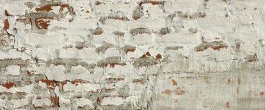 Mittelalterliche Festungs-Ziegelstein-weiße rote Wand-raue Schmutz-Beschaffenheit Lizenzfreie Stockfotografie