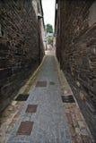 Mittelalterliche Gasse in Bretagne Stockfoto