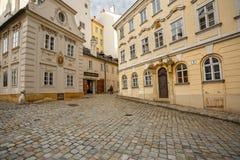Mittelalterliche Gebäude des Jahrhunderts 18 und 19 Wien, Österreich Stockbild