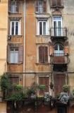 Mittelalterliche Gebäude in Verona Stockfotografie