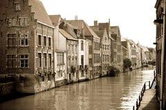 Mittelalterliche Häuser, Gent, Belgien Stockfotografie