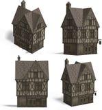 Mittelalterliche Häuser - Pub Stockfotos