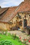 Mittelalterliche Häuser Rasnov-Zitadelle Siebenbürgen Rumänien Stockfotos