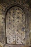 Mittelalterliche hölzerne Tür Stockfoto