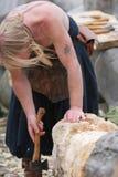 Mittelalterliche Holzbearbeitung Stockfotos