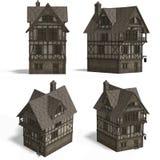 Mittelalterliche Häuser - Gasthaus Stockfoto