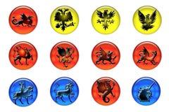 Mittelalterliche Ikonen Stockbilder