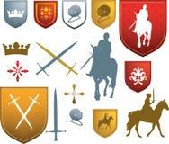 Mittelalterliche Ikonen und Embleme Lizenzfreies Stockfoto
