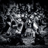 Mittelalterliche Kampf (Rekonstruktion) Tschechische Republik, Libusin, 25 04 Stockfotos