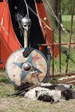 Mittelalterliche Kampfmittel Stockfotos