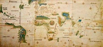 Mittelalterliche Karte der Welt Stockfotos