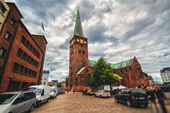 Mittelalterliche Kathedrale in Aarhus, Dänemark Lizenzfreies Stockbild