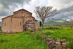 Mittelalterliche Kirche Italien Sardinien Stockbild