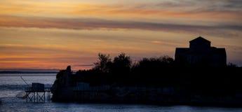 Mittelalterliche Kirche Sainte-Radegonde, Talmont-sur Gironde lizenzfreies stockbild