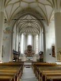 Mittelalterliche Kirche in Sighisoara Stockfotografie