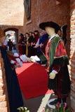 Mittelalterliche Kostüme stockbild