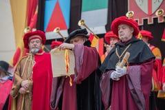 Mittelalterliche Kostümparty Stockbilder