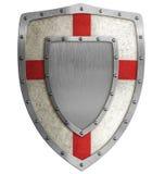 Mittelalterliche Kreuzfahrerschildillustration Stockfoto