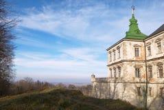 Mittelalterliche Landschaft (mit copyspace) Stockfotos