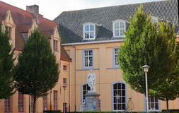 Mittelalterliche Märchenstadt stockbild