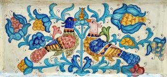 Mittelalterliche Malerei auf Keramik Lizenzfreies Stockbild