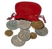 Mittelalterliche Münzen Stockfotos