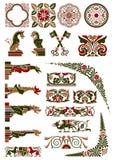 Mittelalterliche Motivansammlung Lizenzfreies Stockbild
