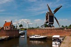 Mittelalterliche niederländische Stadt Heusden Stockfotos