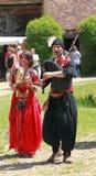 Mittelalterliche orientalische Unterhalter Stockfotos