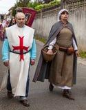 Mittelalterliche Paare Stockfoto