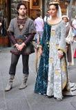 Mittelalterliche Parade in Italien Stockbilder