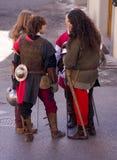 Mittelalterliche Ritter lizenzfreies stockfoto
