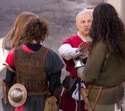 Mittelalterliche Ritter lizenzfreie stockbilder