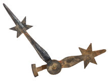 Mittelalterliche Uhrhände lokalisiert auf Weiß Stockfoto