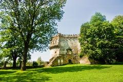 Mittelalterliche Ruinen des Schlosses in Ostrog Lizenzfreie Stockbilder