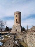 Mittelalterliche Ruinen und Kontrollturm Lizenzfreies Stockfoto