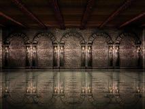 Mittelalterliche Schlosshalle Stockbilder