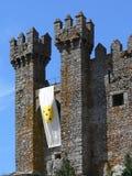 Mittelalterliche Schlosskontrolltürme Stockfotos