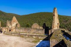 Mittelalterliche Schlossruine in Deutschland Lizenzfreie Stockfotos