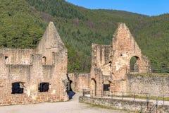 Mittelalterliche Schlossruine in Deutschland Stockbild